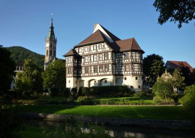 Turm der Amanduskirche und ehem. Residenzschloss ab 1443