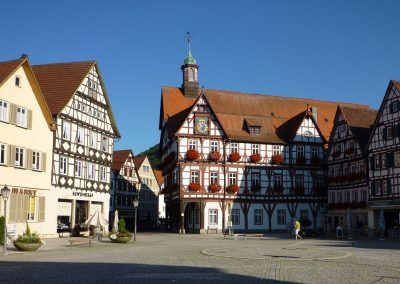 Fachwerk-Rathaus ab 14430,  Marktplatz